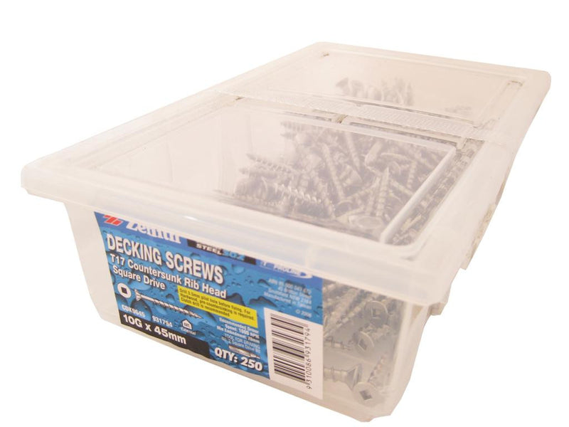 Decking Screws 10G x 45mm SS CS Box of 250