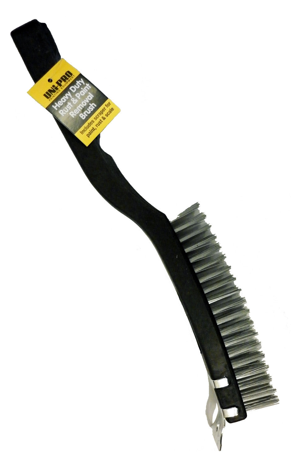 Uni-Pro Heavy Duty Wire Brush With Scraper