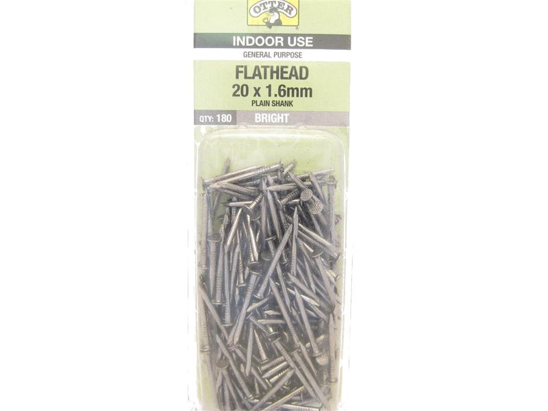 Flat Head Nails 20mm x 1.6mm Pack of 180