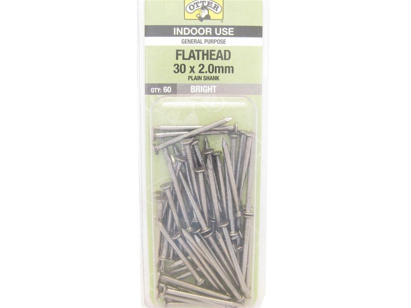 Flat Head Nails 30mm x 2.0mm Pack of 60