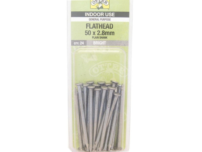 Flat Head Nails 50mm x 2.8mm Pack of 24