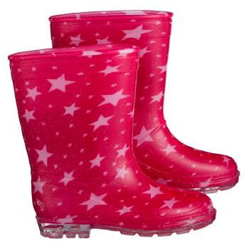 Girls Pink Star Gumboots Size 8