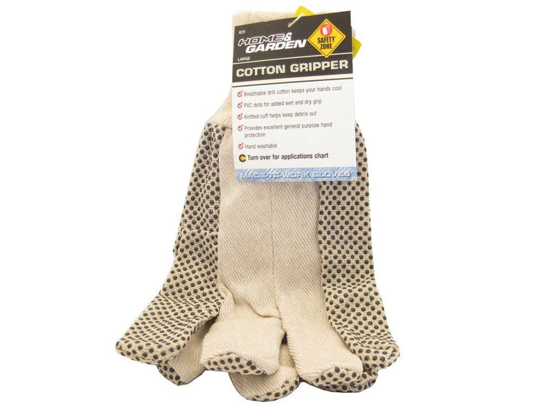 Large Cotton Gripper Gloves