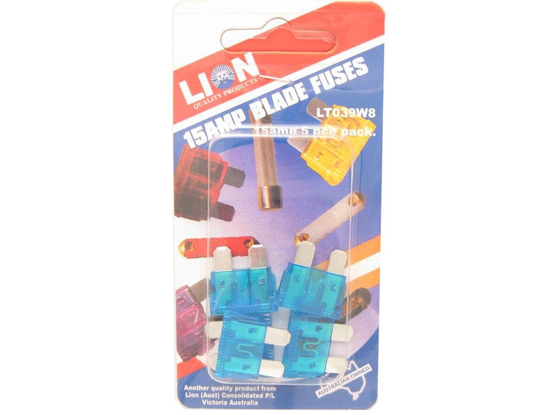 Lion 15 Amp Blade Fuses - Pack of 5