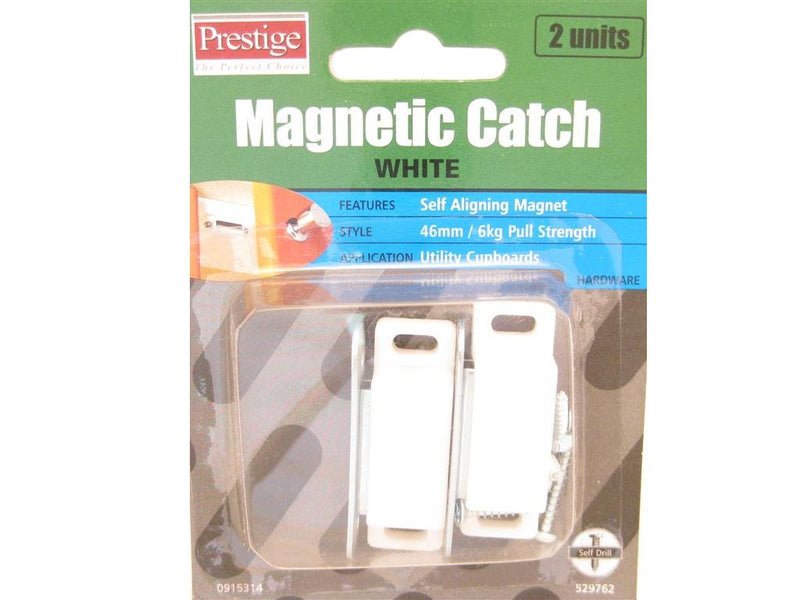 Prestige Magnetic Catch White 6kg Pack of 2