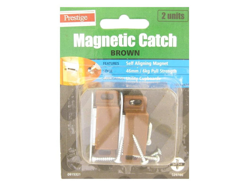 Prestige Magnetic Catch Brown 6kg Pack of 2