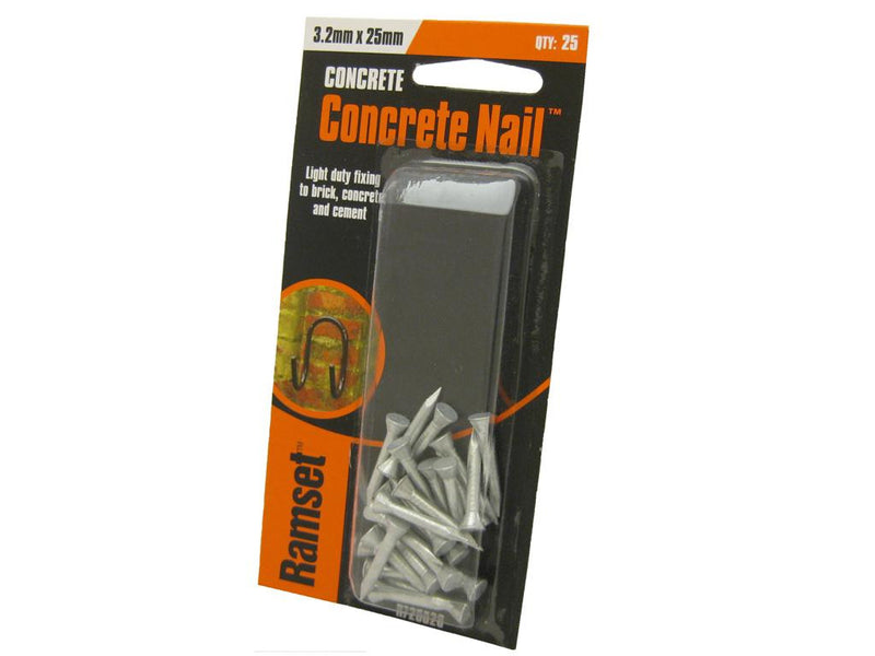 Ramset Concrete Nails 25mm x 3.2mm Pk25