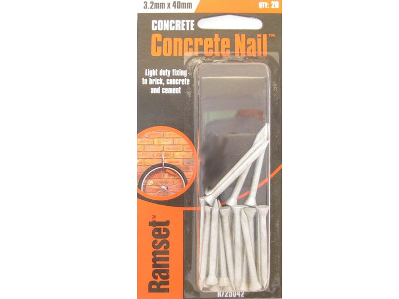 Ramset Concrete Nails 40mm x 3.2mm Pk20