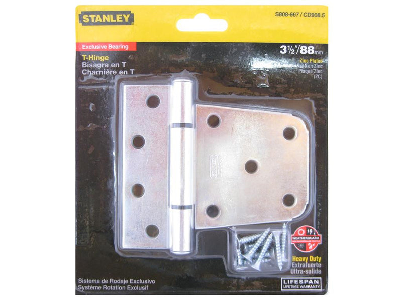 Heavy Duty Zinc Plated Gate T-Hinge 88mm