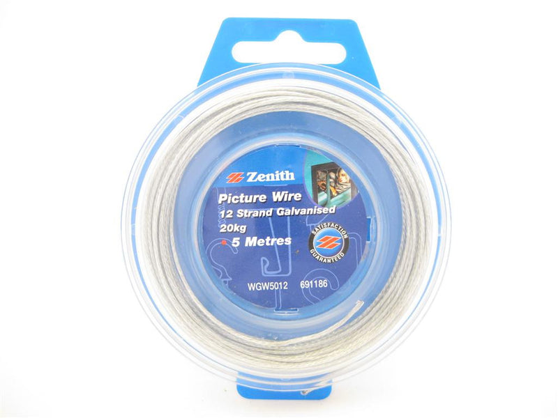 Zenith Galvanised Picture Wire 20kg 5m
