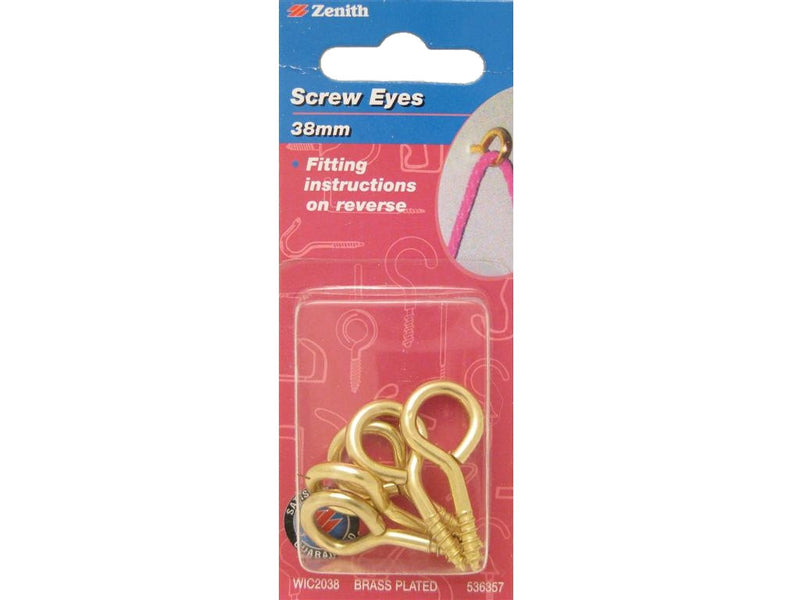 Zenith Screw Eyes 38mm x 3.3mm BP Pack of 5