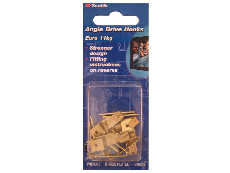 Zenith Angle Drive Picture Hooks 11kg Pack of 6