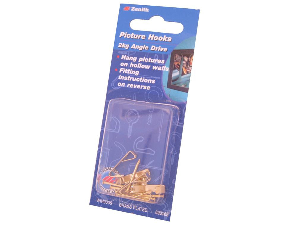 Zenith Angle Drive Picture Hooks 2kg Pack of 6
