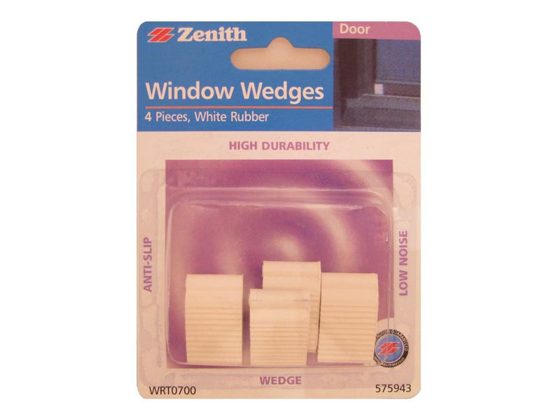 Zenith Window Wedges White Rubber Pack of 4