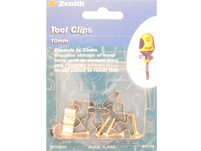 Zenith 10mm Tool Clips Pack of 5