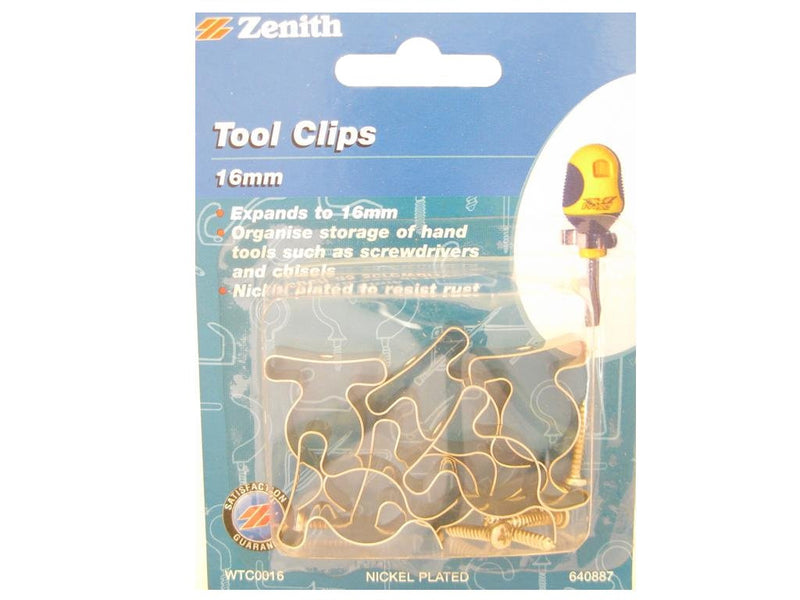 Zenith 16mm Tool Clips Pack of 6