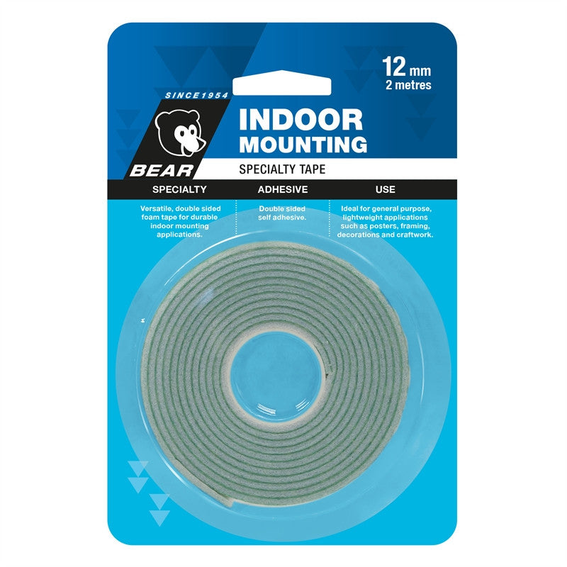 Bear Indoor Mounting Tape 12mm x 2m