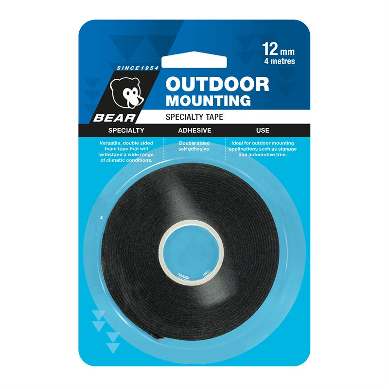 Bear Outdoor Mounting Tape 12mm x 4m