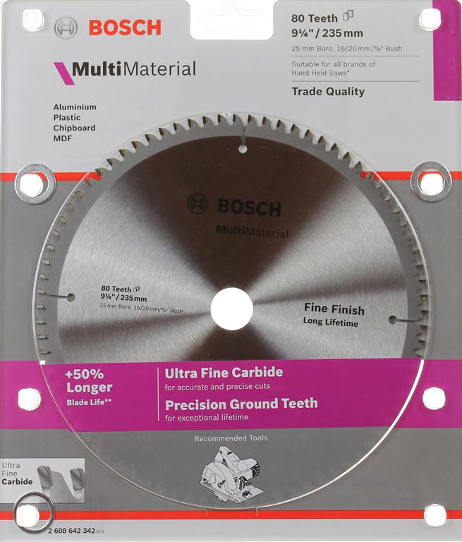 Bosch Aluminium & Multi Material Circular Saw Blade 235mm (9-1/4 Inch) 80 Teeth