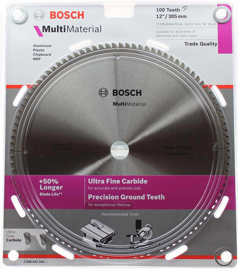 Bosch Aluminium & Multi Material Circular Saw Blade 305mm (12 Inch) 100 Teeth