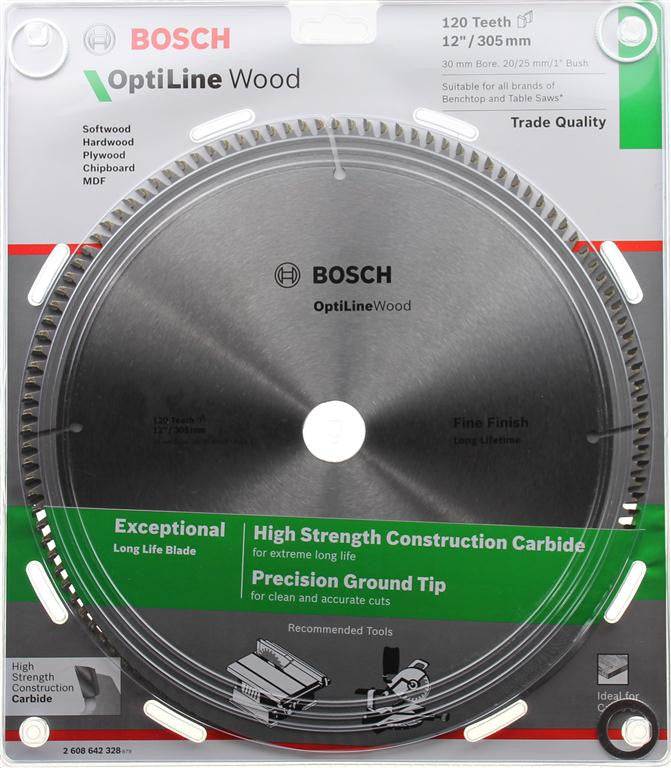 Bosch Optiline Wood Circular Saw Blade 305mm (12 Inch) 120 Teeth