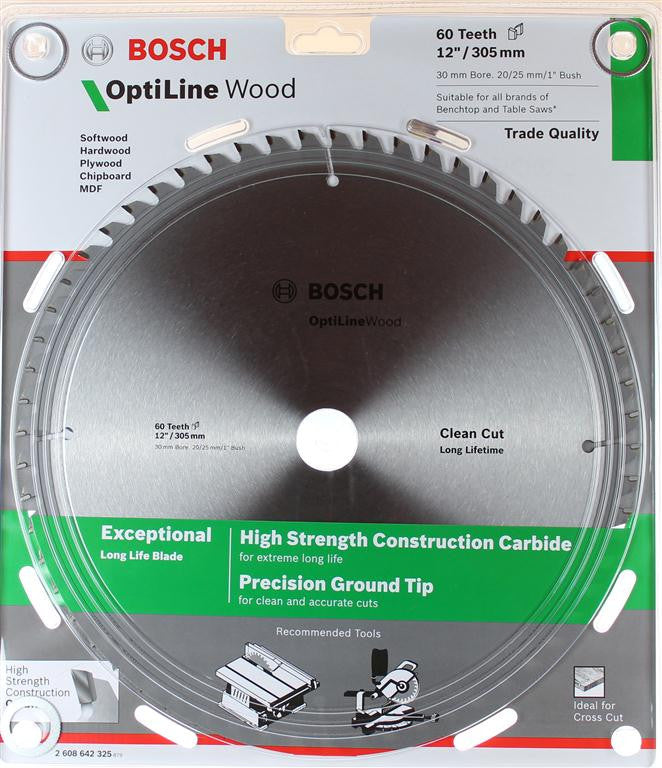 Bosch Optiline Wood Circular Saw Blade 305mm (12 Inch) 60 Teeth