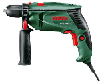 Bosch PSB 650 RE Impact Drill with Bonus 200 Piece DIY Kit