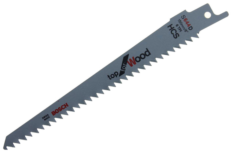 Bosch top for Wood 150mm Sabre Saw Blades 2 Pack S644D