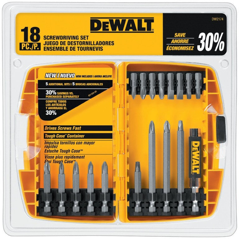 DeWALT 18 Piece Screwdriver Bit Set DW2174