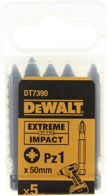 DeWALT 50mm Extreme Impact Pz1 Screwdriver Bits DT7390 (5 Pack)