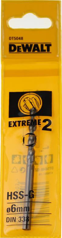 DeWALT 6mm EXTREME 2™ Metal Drill Bit DT5048