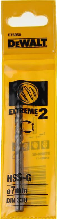 DeWALT 7mm EXTREME 2™ Metal Drill Bit DT5050