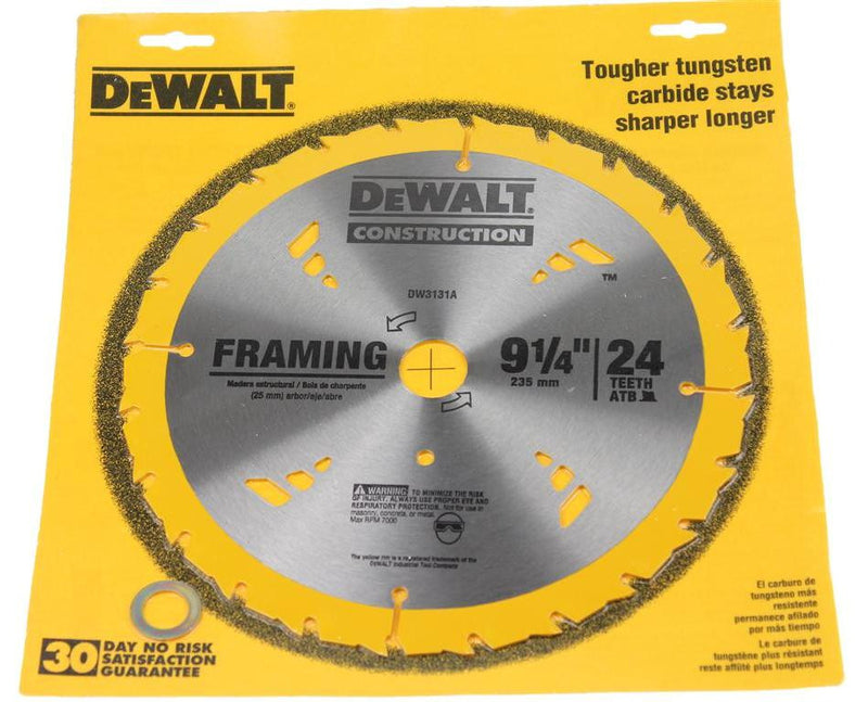 DeWALT Construction 235mm 24 Teeth Framing Circular Saw Blade DW3131A