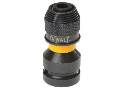 DeWALT Extreme Impact 1/2 Inch Square to 1/4 Inch Hex Adaptor DT7508