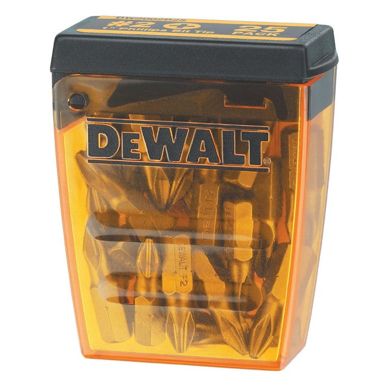DeWALT Phillips Screwdriver Bit Tips 25 Pack