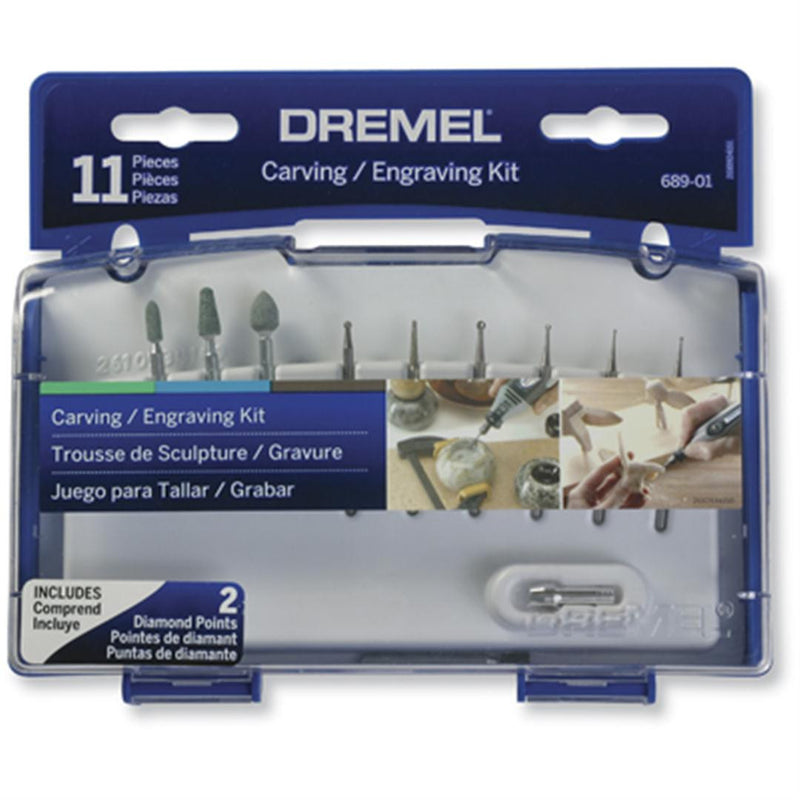 Dremel 11 Piece Carving & Engraving Accessory Kit 689-01