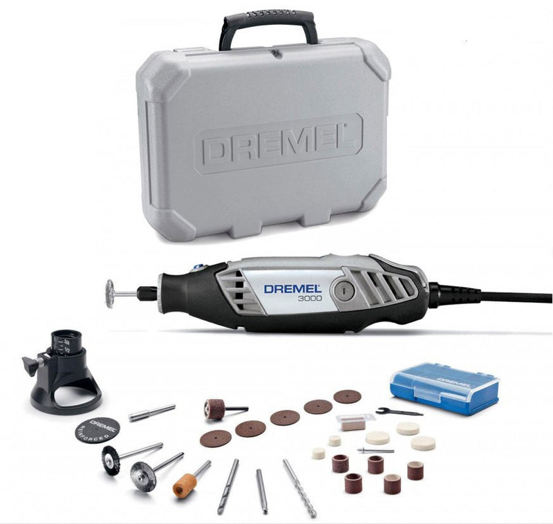 Dremel 3000 Rotary Tool with 26 Piece Acc Kit & Carry Case