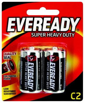 Eveready Super Heavy Duty C2 Batteries 2 Pack