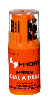 Frost 13 Piece Imperial HSS Drill Bit Set