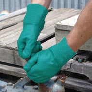 Garden Guard Nitrile Gardening Work Gloves: Extra Large Size