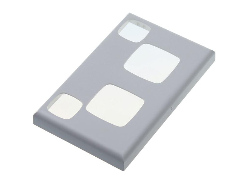 HPM Excel XL777 10A Double GPO Power Outlet Cover Plate - Matt Silver