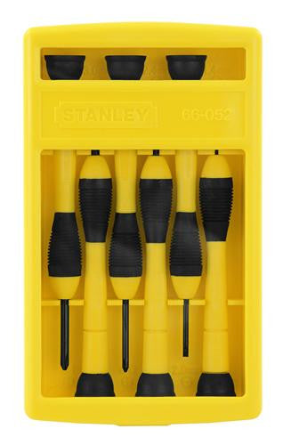 Stanley 6 Piece Precision Jewellers Screwdriver Set 66-052