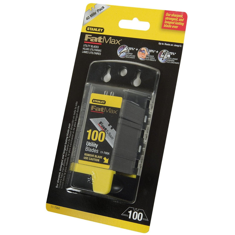Stanley FatMax Heavy Duty Utility Knife Blades - Pack of 100