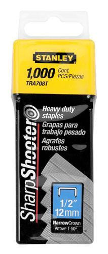 "Stanley Heavy Duty Staples 1/2"" (12mm) Pack of 1000: TRA708T"