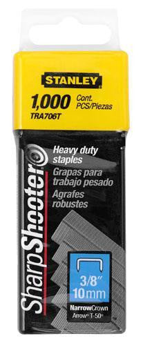 "Stanley Heavy Duty Staples 3/8"" (10mm) Pack of 1000: TRA706T"
