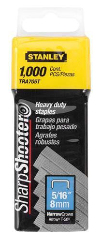 "Stanley Heavy Duty Staples 5/16"" (8mm) Pack of 1000: TRA705T"