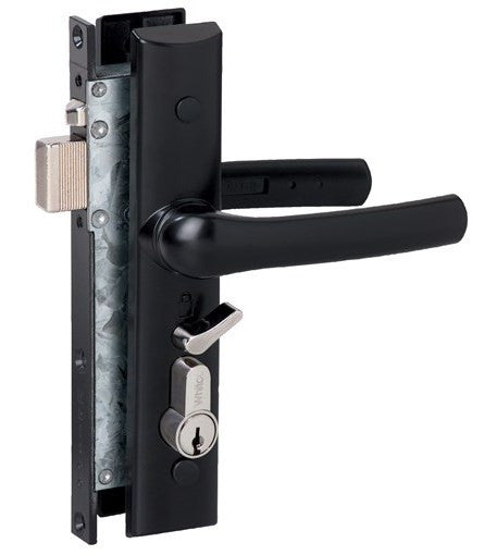 Whitco Tasman Hinged Security Screen Door Lock Black