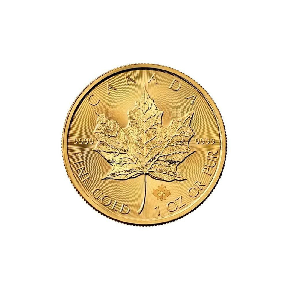 2015 1 Ounce (oz) .9999 Pure Gold Maple Leaf Bullion Coin