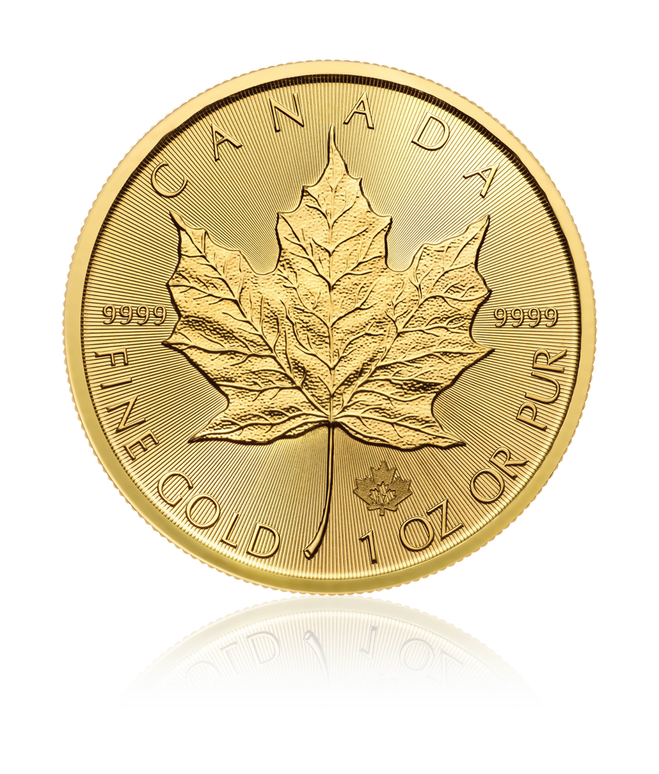 2017 1 Ounce (oz) .9999 Pure Gold Maple Leaf Bullion Coin