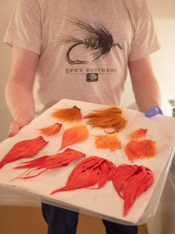 dying hair for salmon flies